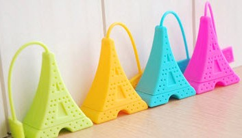 Eiffel Tower silicone tea infuser Export France Carrefour by Hanchuan exclusive design !