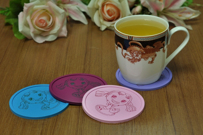What is the creative usage of Hanchuan industrial solution of silicone coaster