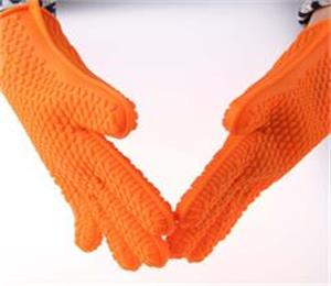Silicone heat resistant oven glove_for cooking, oven baking and smoking