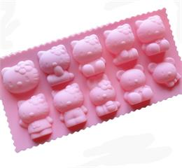 Hello kitty silicone ice mould simple operation and easy to clean