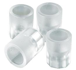 Shot glass silicone ice cube tray makes 4 round ice shot glasses at once!