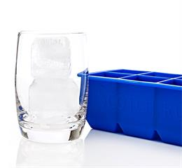 Silicone big ice cube tray creates 8 jumbo 2-inch super slow melting ice cubes!