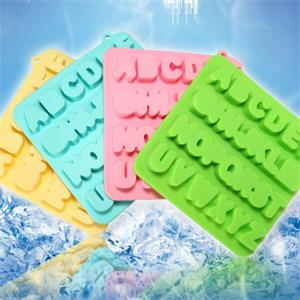 Exporting the United States new letters silicone ice cube tray, from Hanchuan creative design!