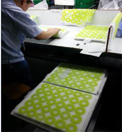 Hanchuan design  silicone table mat, 5 color printing, 100% of the FDA standard!