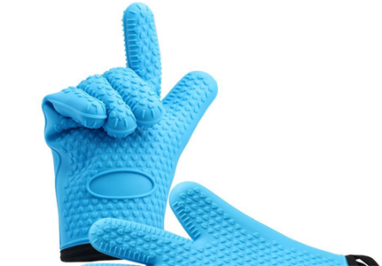 Silicone oven gloves with cotton layer, Extra thick heat resistant  for cooking Grilling.