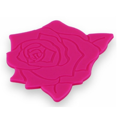 silicone cup mat with beautiful rose
