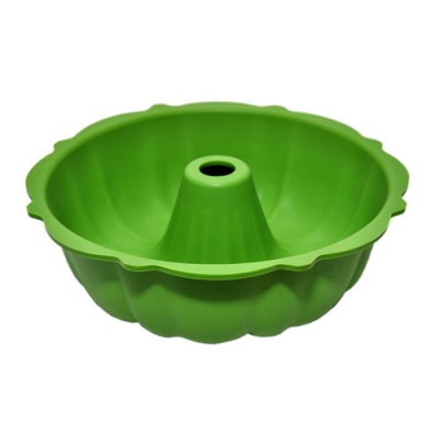 Silicone bakeware with round shape