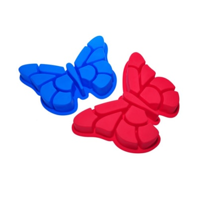 Silicone bakeware with butterfly shape