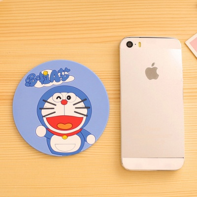 Creative cartoon silicone fashion circular coaster