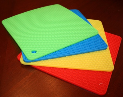 heat resistent silicone hot pot mat