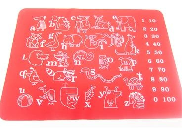 BPA free wholesale custom printing silicone placemat