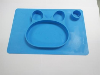 non slip silicone feeding food tray for Babies