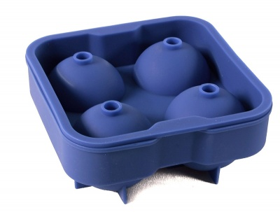 new 4 cavity silicone ice ball mold