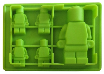 building brick multi-size minifigure silicone ice tray