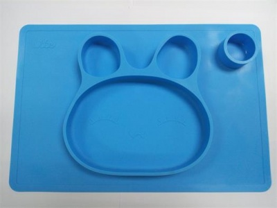 one-piece baby food silicone plate