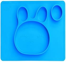 one piece non slip feeding silicone baby placemat plate