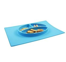 silicone kids placemat non-slip baby plate