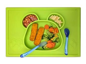 bpa free silicone placemat plate for kid