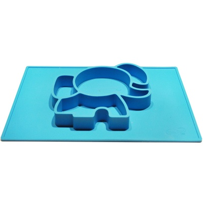 practical kids baby silicone plate sucker placemat