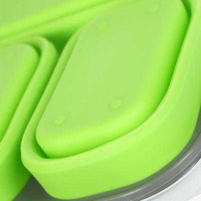 collapsible portable food storage folding lunch box silicone