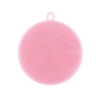 silicone dish scrubber kitchen cleaning sponge