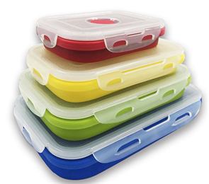 insulation portable food grade silicone bento lunch box