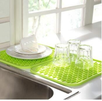 heat resistant silicone holder dish drying mats