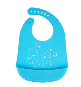 waterproof silicone baby bib with food catcher