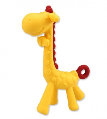 BPA free food grade toy silicone baby teether giraffe