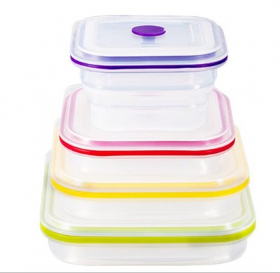 wholesale transparent silicone lunch box
