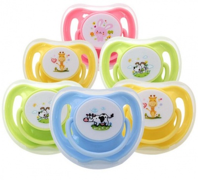 cartoon silicone baby pacifier with custom logo