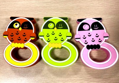 BPA-Free cute owl teether silicone baby teething toys for Infants