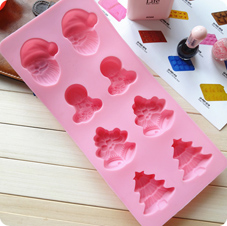 Christmas silicone ice tray