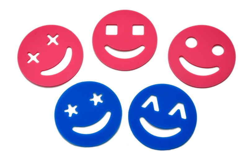 smile silicone cup mat