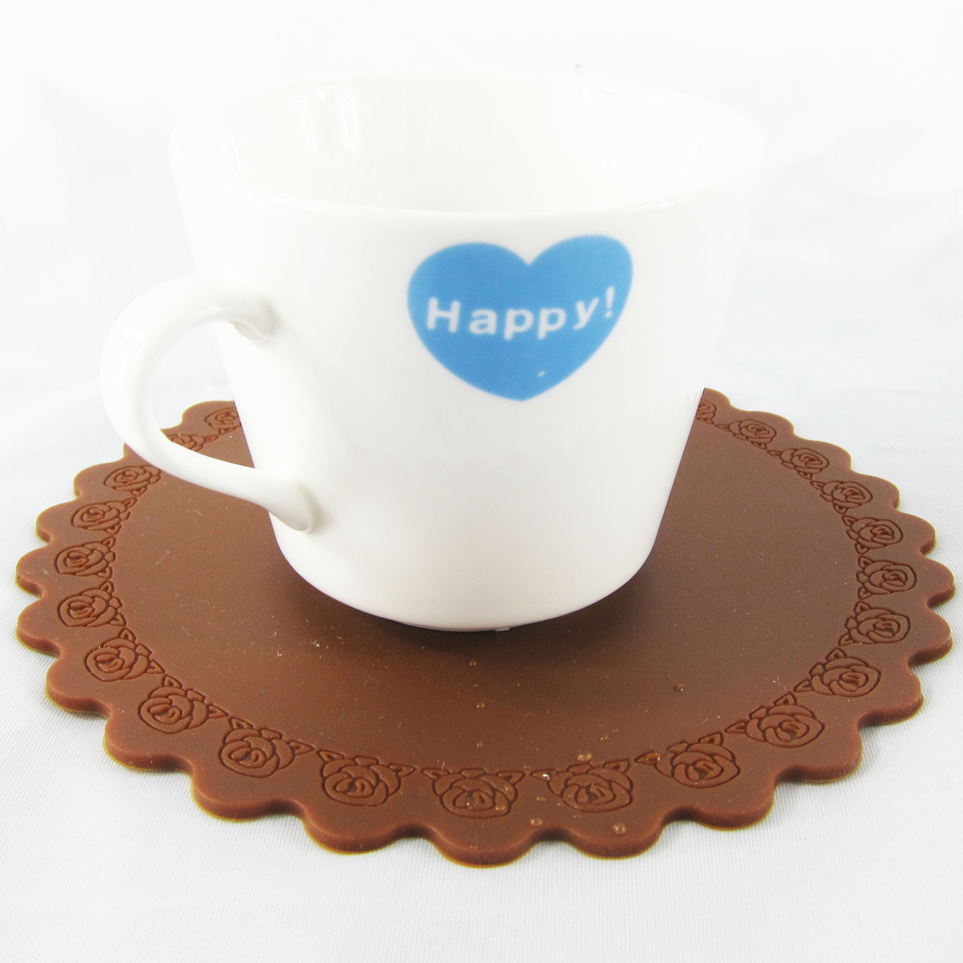 Medium thickening round silicone coaster
