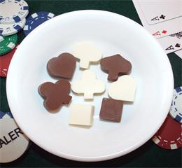 Poker silicone chocolate molds