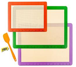 non-stick silicone baking mat with fiberglass