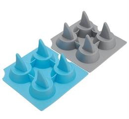silicone shark fin shaped ice cube tray