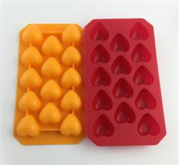 OEM silicone heart shaped ice tray