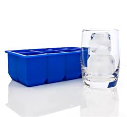 silicone square ice cube tray