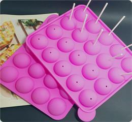 20 holes silicone lollipop chocolate mold