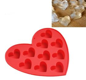 silicon heart ice cube tray