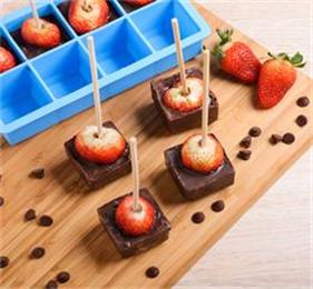 square silicone ice cube tray