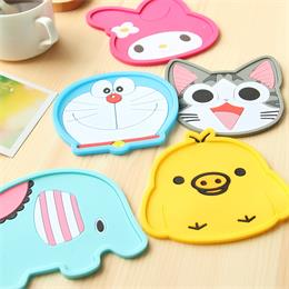 cartoon silicone tea coaster