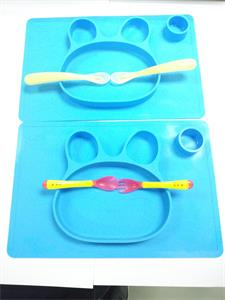 food grade custom tiny dinner silicone placemat for kids