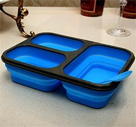 silicone folding lunch box